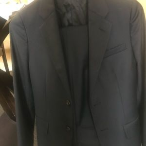 Boys Ralph Lauren size 12 navy wool twill suit